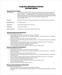 Substitute Teacher Job Description Resume by Teacher Job Description Dance Teacher Resume Dancing Job