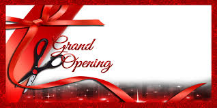grand opening ribbon business banners opening scissors