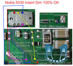 nokia 5030 light without ic display keypad led jumper tested