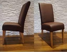 echtleder st hle esszimmer braun echtleder stuhl echt leder stühle rindsleder massivholz