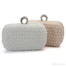 wedding bags 2015 women evening clutch bag gorgeous pearl beading