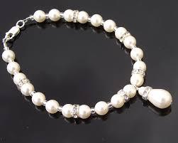 swarovski bracelet with pearls images Teardrop swarovski pearl crystal bracelet edith jules bridal jpg