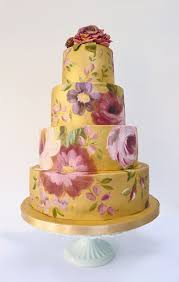 hand painted wedding cakes floral cakes 100 layer cake