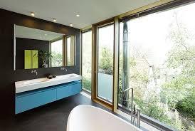 Bathroom With Black Walls Design Detail A Bathroom With Black Walls And A Black Floor