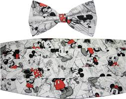 mickey mouse bow tie u0026 cummerbund vintage minnie u0026 mickey