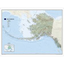 Sound Map Alaska Wall Map Laminated National Geographic Store