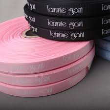 grosgrain ribbons custom logo silk screen print polyester ribbons grosgrain ribbons
