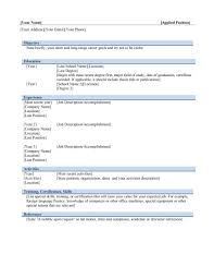 Resume Templates Samples Free Resume Examples Free Starengineering