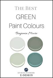the best green and blue green paint colours by benjamin moore
