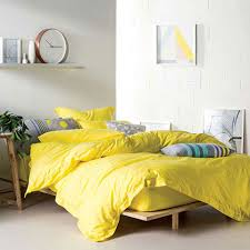 linen house elka yellow quilt cover set manchester madness
