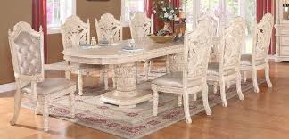 dining table in antique style white w options