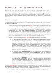 humanis si e social in rerum natura in rebus humanis docsity