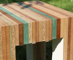 recycled wood tristan titeux colorful re cut furniture is made from recycled