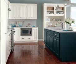 White Blue Kitchen White Glazed Cabinets With Blue Kitchen Island Homecrest