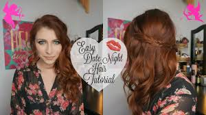 easy date night hair tutorial tiffaneyandcoxo youtube