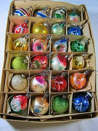 antique mercury glass feather tree ornaments by