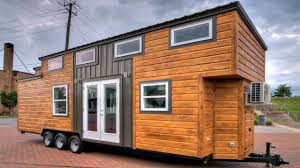tiny house on wheels modern chic with a touch of rustic interior