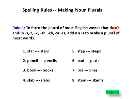 nouns spelling rules