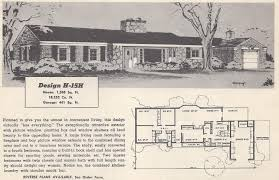 972 in vintage house plans 1954 ranch 2 story and 1 1 2 story