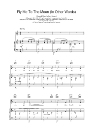 fly me to the moon sheet for piano and more