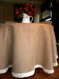 tablecloth ideas for round table 78 round burlap round table cloth with a pleated by simplyasthat