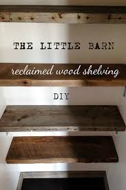Wood Shelves Build by Reclaimed Wood Shelving Diy Hello Scarlett Blog