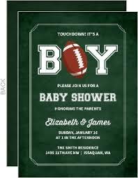 football baby shower boy baby shower invitations