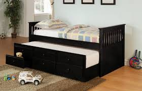 Kids Beds With Storage Boys Furniture Boys Bed Room With Black Wooden Bed Having Trundle And
