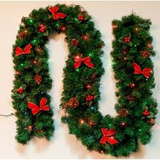 christmas garland with lights aliexpress buy 2 7m christmas garland green christmas rattan