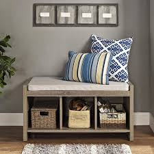 Cubby Storage Bench by Shoe Storage Bench Cushion Seat Cubby Shoe Entryway Hallway Coat