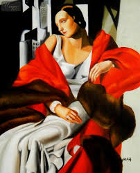 homage to t de lempicka portrait of madame boucard 16x20