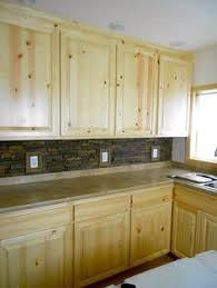 Knotty Wood Kitchen Cabinets by Hickory Cabinets Are Popular In Log Homes And Rustic Lodges