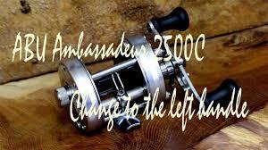 abu 2500c abu ambassadeur 2500c change to the left handle 右ハンドルから左