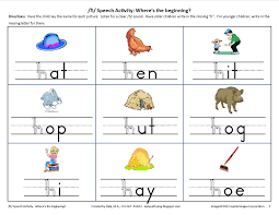 awesome collection of speech therapy worksheets for preschoolers