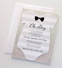 baby boy shower invites baby shower onesie invitation glitter shower invitation
