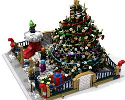 lego ideas modular christmas park meet santa