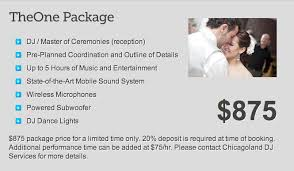 wedding planner packages book your wedding dj today