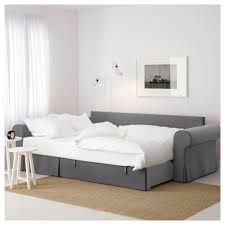 Bed Settees At Ikea by Backabro Sofa Bed With Chaise Longue Nordvalla Dark Grey Chair