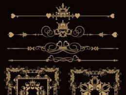 luxury ornaments borders with frame vector free vectors ui