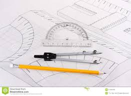 building plan of a civil construction stock photo image 21526760