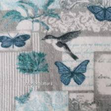 peri bird butterfly 3pc bath towel set plush towels teal grey