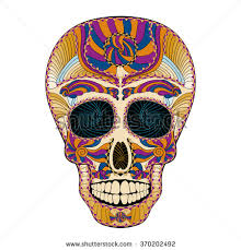 mexican sugar skull day dead dia stock vector 735101215