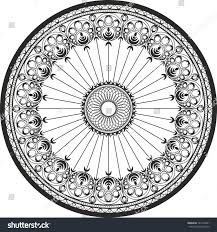 ornament circle cast steel wrought iron stock vector 143146441