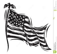 Black And White Us Flag American Flag Stock Vector Image Of Vote Waving Nation 16475384