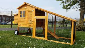 pawhut deluxe portable backyard chicken coop w fenced run and