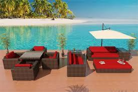 wicker sofa u0026 alexandria bronze patio furniture set 3