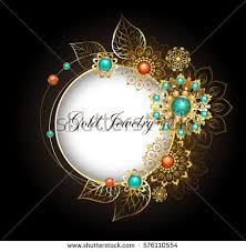jewelry banner decorated jewelery gold stock vector