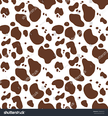 cow wrapping paper seamless pattern cow fur stock vector 478026973