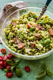 kale pesto mozzarella pasta salad sallys baking addiction