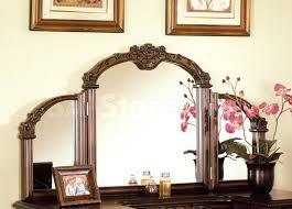 Tri Fold Bathroom Mirror by Sale 883 00 Ashton Oak Vanity Set With Tri Fold Mirror Mirrors